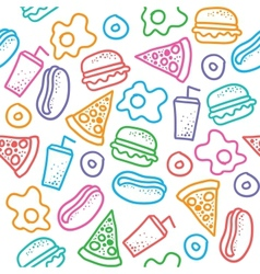 fast food pattern vector image