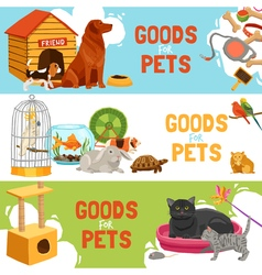 Goods For Pets Horizontal Banners vector image vector image