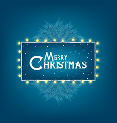 christmas and new year card with typography and vector image