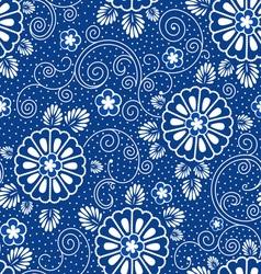 japan blue floral pattern vector image vector image