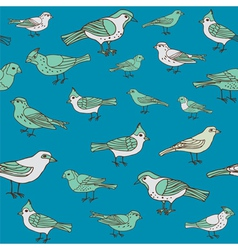 Seamless vintage background with birds vector image vector image