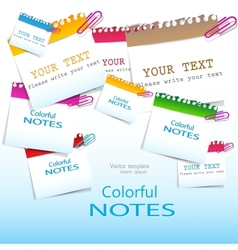 Colorful paper notes with place for text vector image