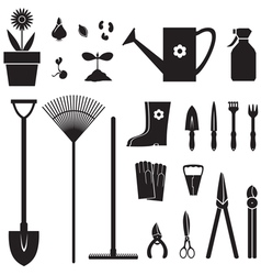 Garden equipment set vector image vector image
