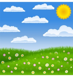 green field vector image vector image