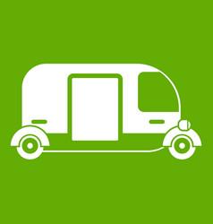 thailand three wheel native taxi icon green vector image vector image