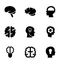 9 think icons vector image