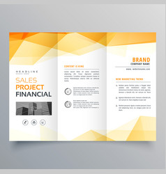 Abstract orange trifold creative brochure design vector