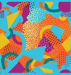 abstract seamless pattern blots dots geometric vector image