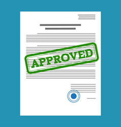 Approved paper document vector