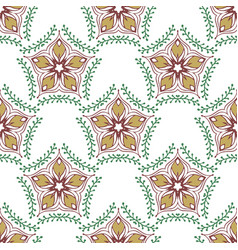 Beauty pattern with floral ornament textile swatch vector