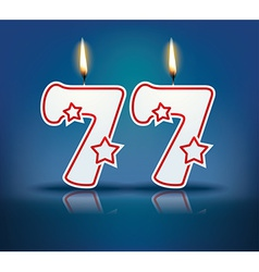 Birthday candle number 77 vector