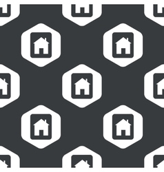 Black hexagon house tablet pattern vector