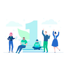 business challenge - modern flat design style vector image