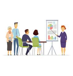 business meeting - modern cartoon vector image