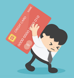 businessman credit cards loan liability real vector image