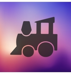 Childrens train icon on blurred background vector