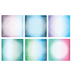 Collection of abstract gradient backgrounds with vector