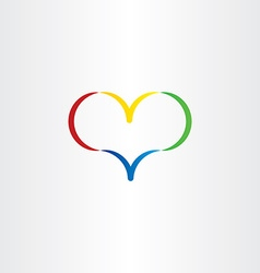 colorful heart logo symbol love valentine icon vector image
