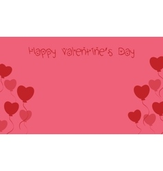 Cute card valentine day with love balloon vector