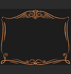 Decorative gold frame decoration vector