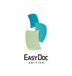 Docs logo Flying sheets of paper vector image