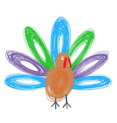 Doodle turkey vector