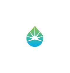 Droplet water eco shine logo vector
