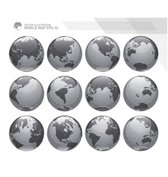 earth globes sets vector image