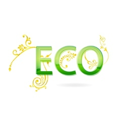 Eco sign vector