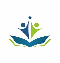 education logo 2 vector image