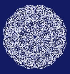 ethnic round ornamental vector image