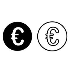 euro currency symbol icon vector image