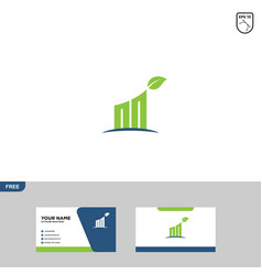 Financial logo template accounting logo template vector