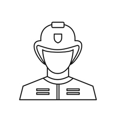 Fireman icon outline style vector