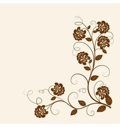 Flowers branch on the grunge background vector
