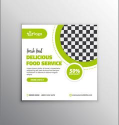 Food social media banner template design vector
