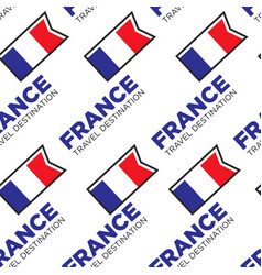 France travel destination seamless pattern french vector