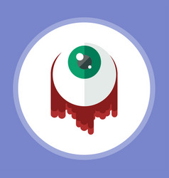 halloween eyeball icon sign symbol vector image