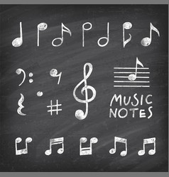 hand drawn music notes vector image