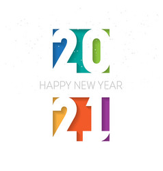 happy new year 2021 vertical banner cover of vector image
