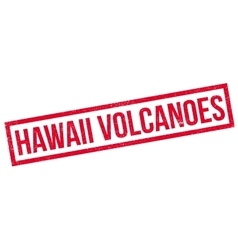 Hawaii Volcanoes rubber stamp vector image