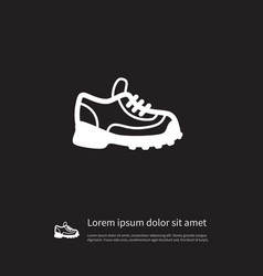 Isolated sneakers icon athletic shoe vector