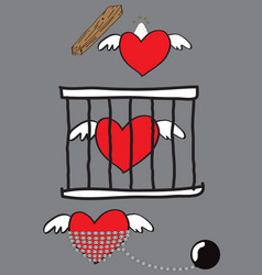 jailed love vector image