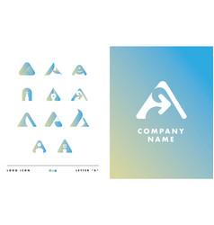 Letter a logo icon vector