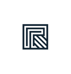 letter r letter geometric isolated vector image