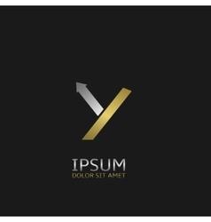 Letter Y logo vector image