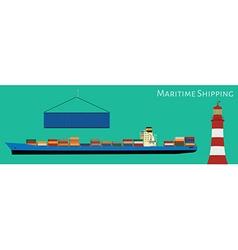 Maritime shipping vector image
