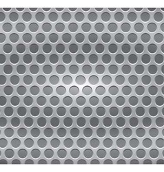 metal plate with holes vector image