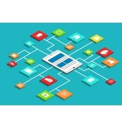 Modern concept 3d isometric smartphone vector