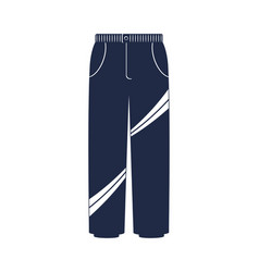 Modern winter pants isolated icon vector